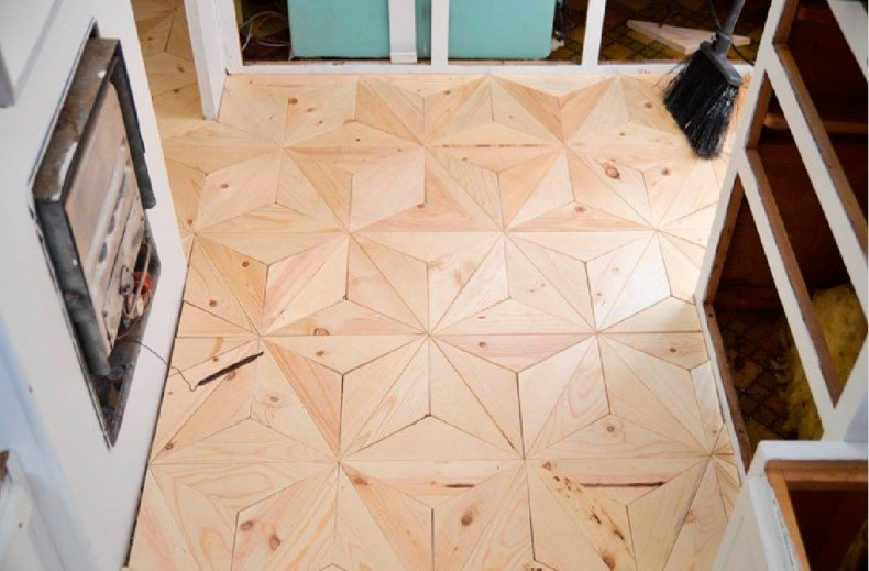 Nice Geometric Plywood Floor