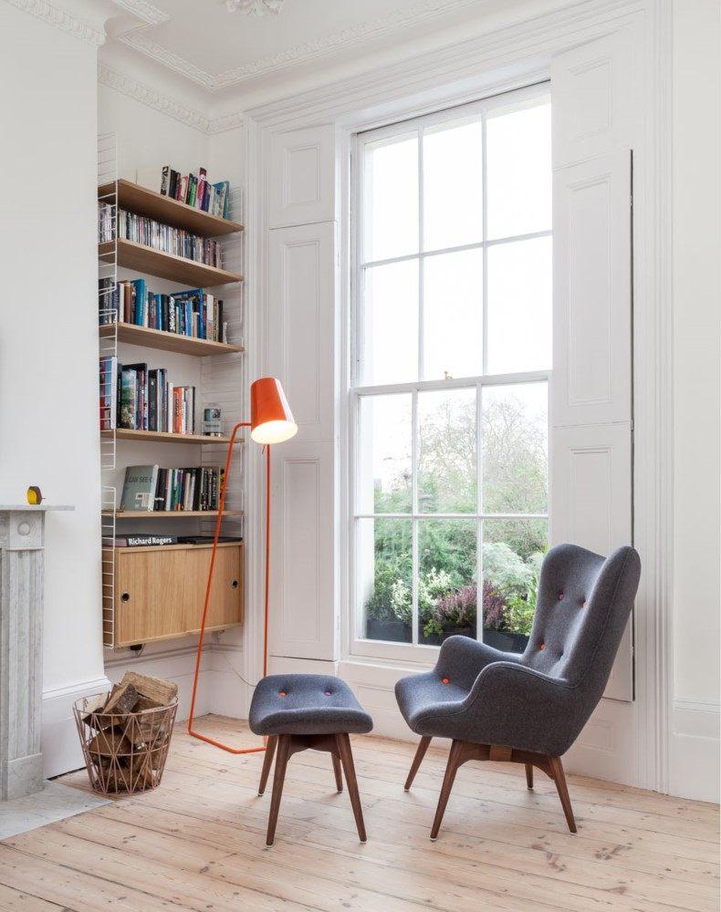Corner Bookshelf for Living Room