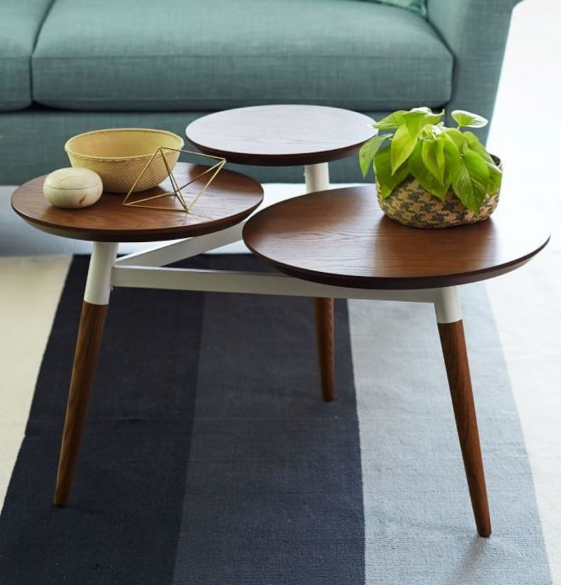 Tri coffee table is a good decision for country or vintage styled living room.