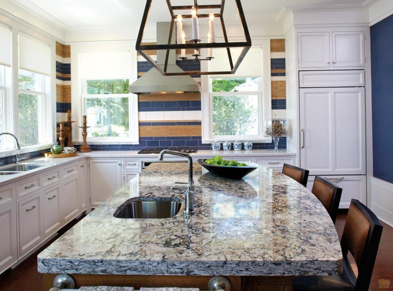 Deep Mixed Quartz Countertop