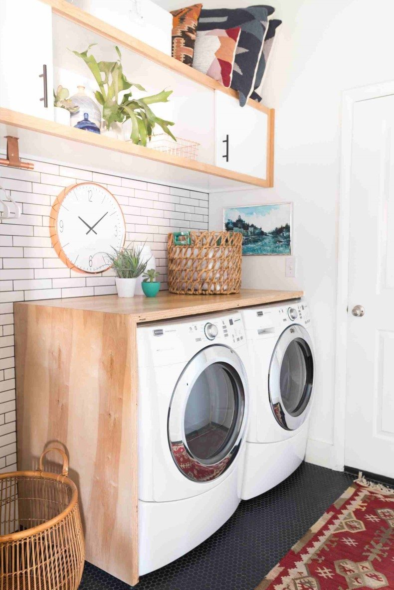 Eclectically Modern Laundry Room