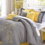 Yellow and Gray Bedding in Your Country Creative Bedrooms