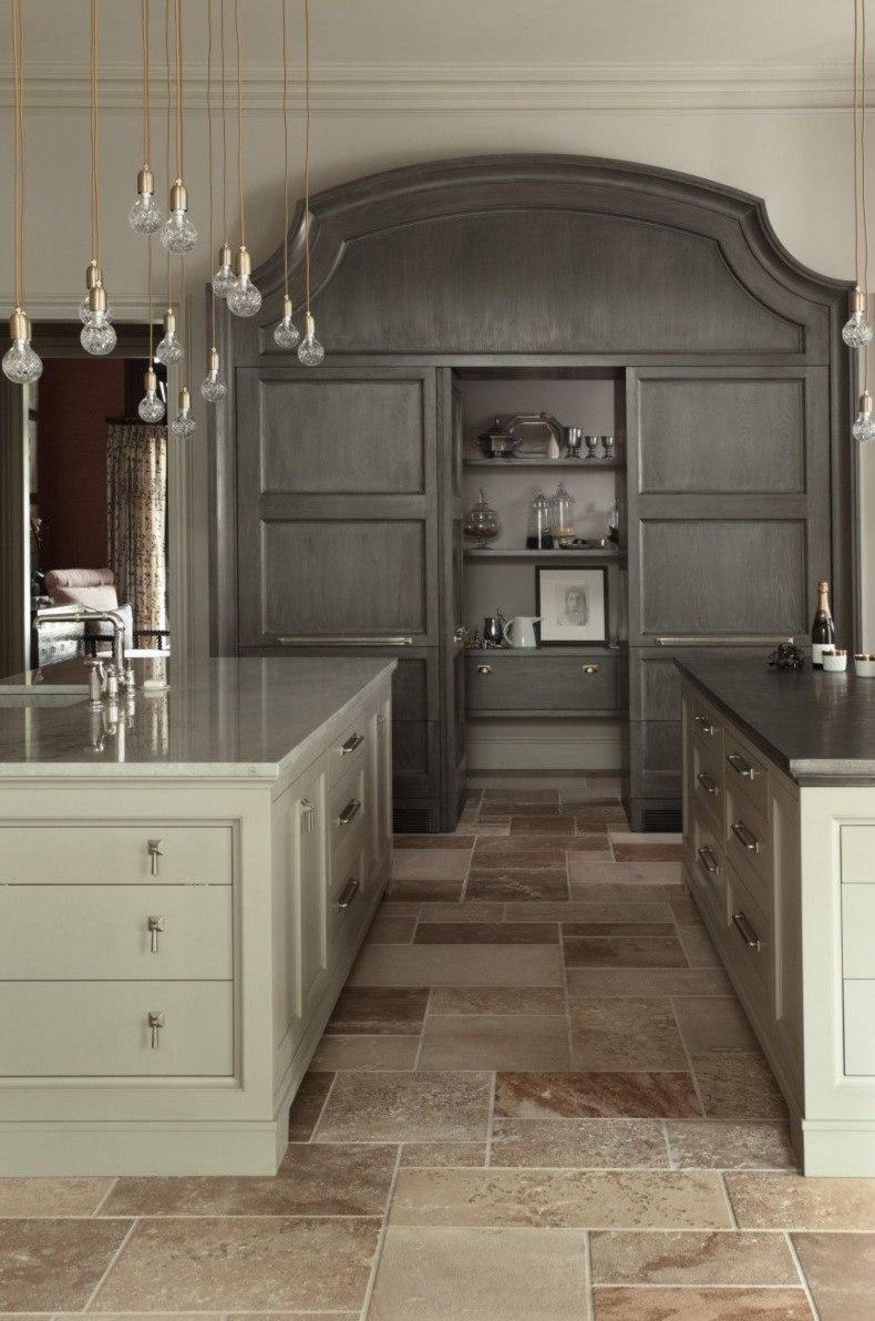 Gray Shade Kitchen Layout Design