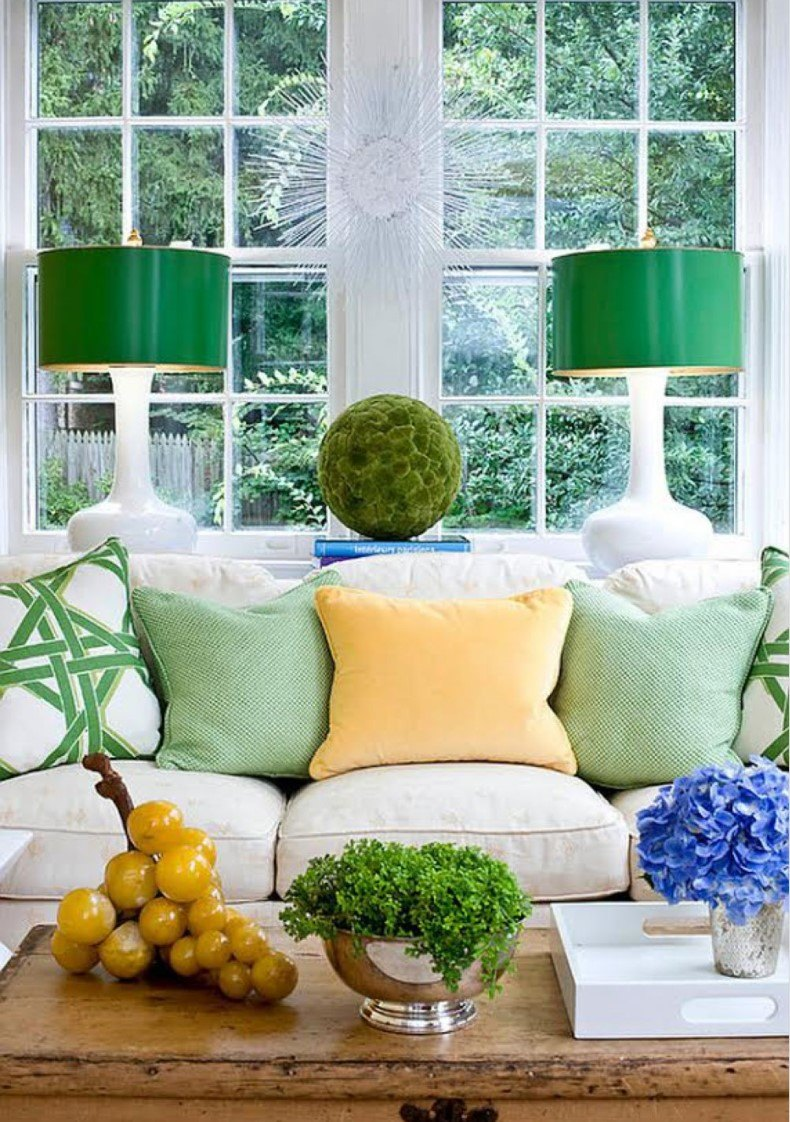 Green Grass Living Room Decor