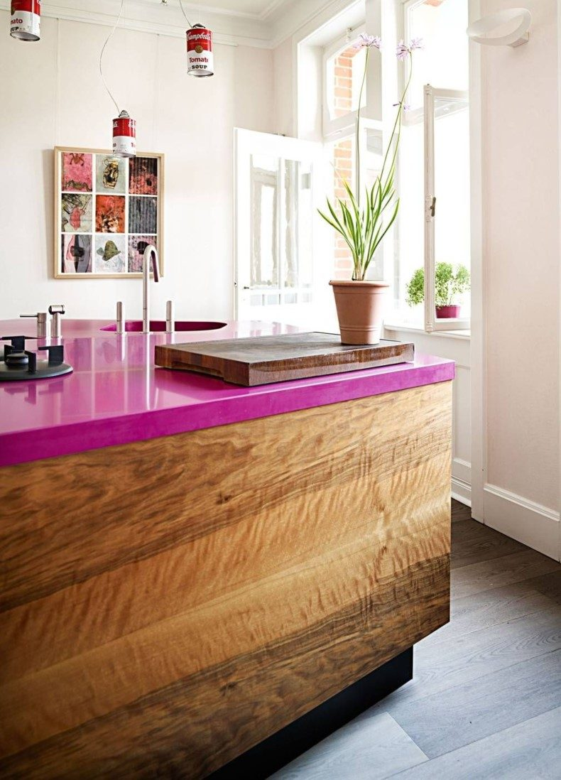 Hot Pink Quartz Countertop