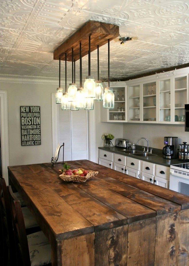 Rustic Pine Kitchen Island