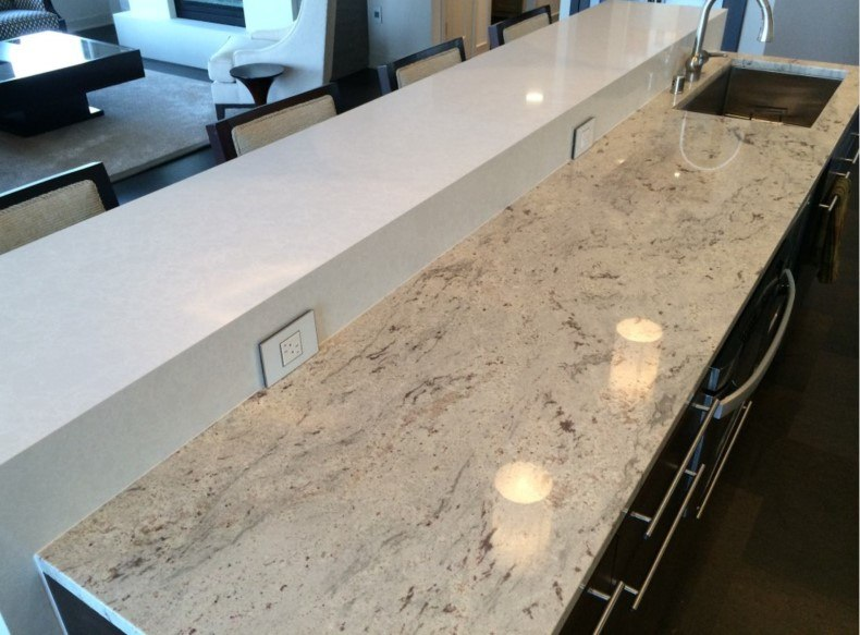 Taupe Quartz Countertop