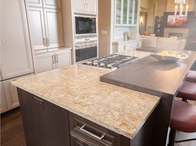 Cream Quartz Countertop
