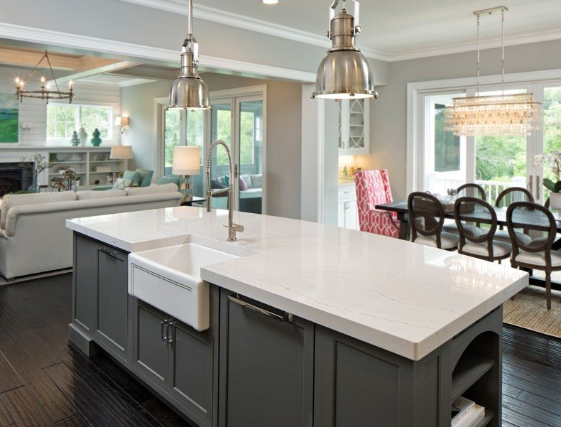 White Marble Quartz Countertop