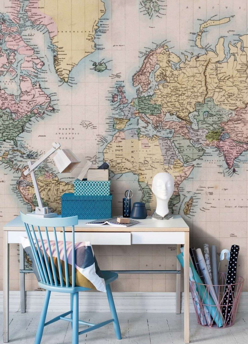 World Wall Map for Office