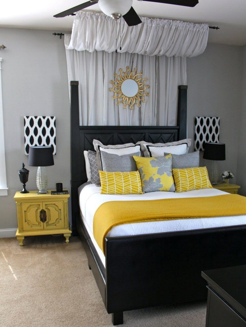 Yellow And Black bedroom decor colors are the most popular in the fashion industry now and in the interior design as well.