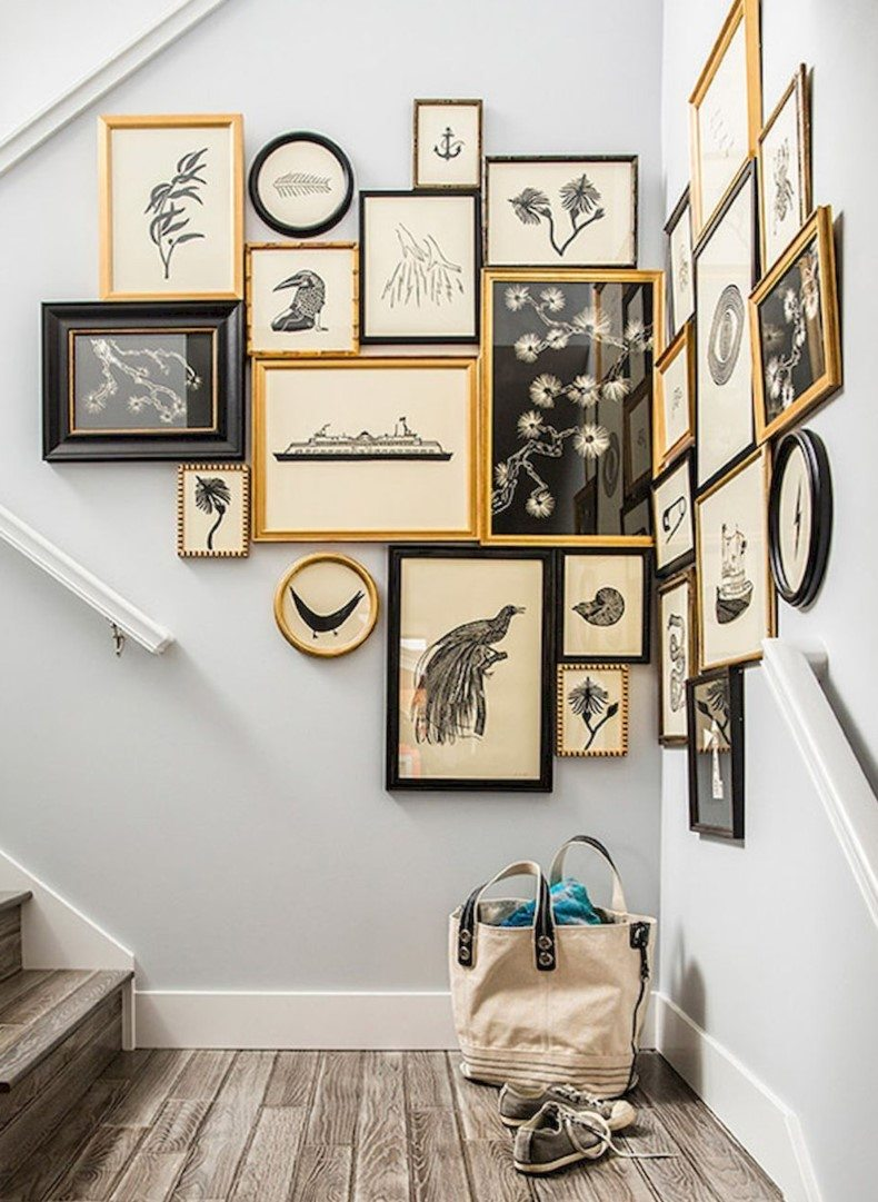 Beautiful Photo Collage for Staircase