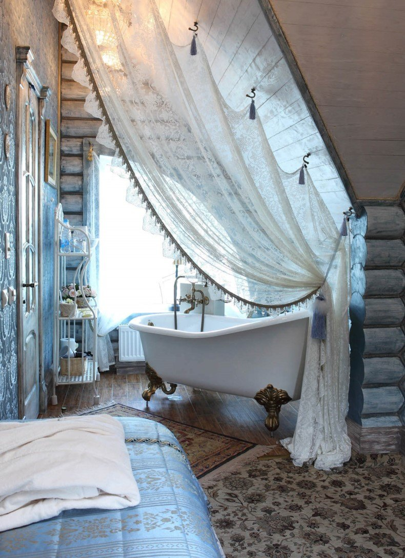 Bedroom Space With Bathroom Details