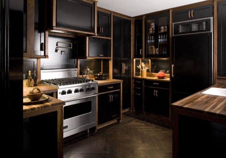 Black And Wood Kitchen Design Ideas