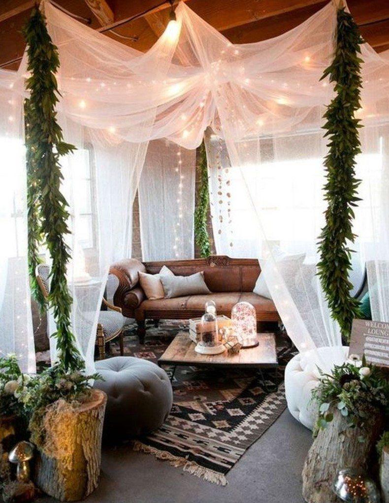 Boho canopy is the good part of the bohemian decor like hammock is.