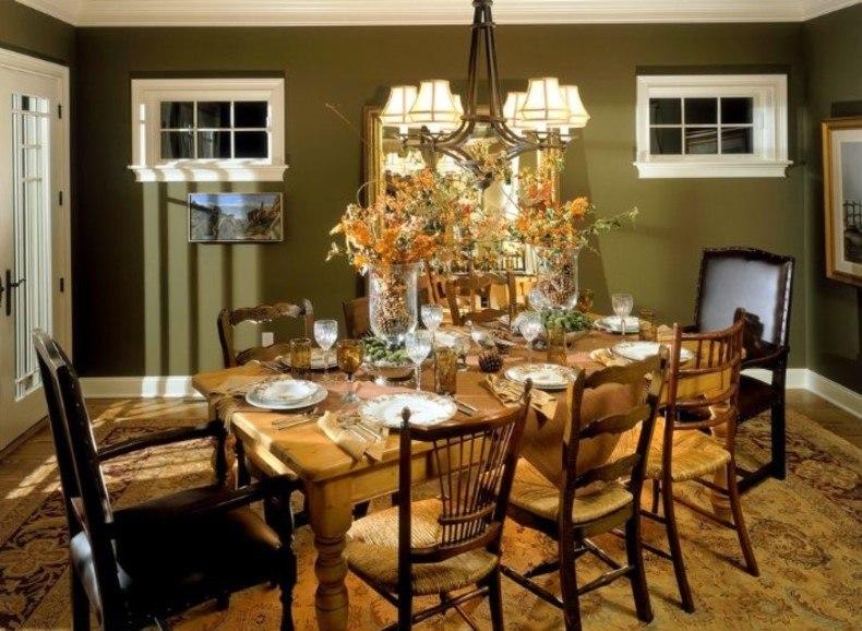 Gold and Green Interior Design