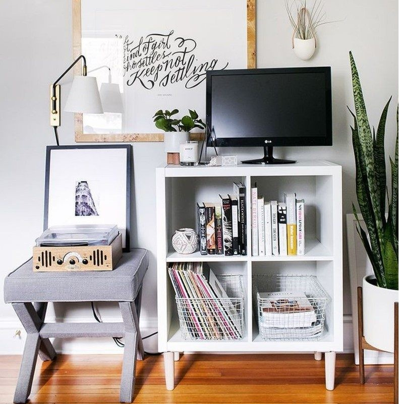 Media TV Stand in Living Room