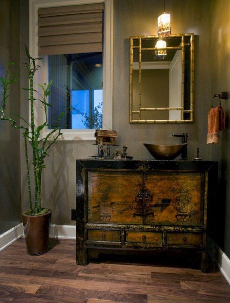 Bamboo Style Bathroom