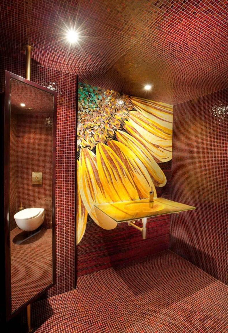 Flowers Bathroom Wall Decor