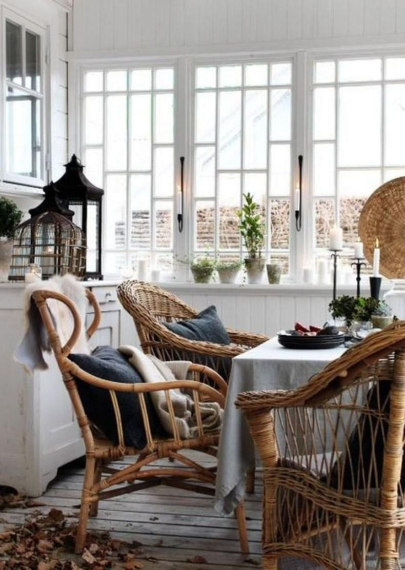 Rattan Style Dining Chairs