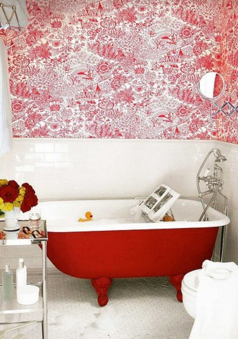 Red Electic Bathroom