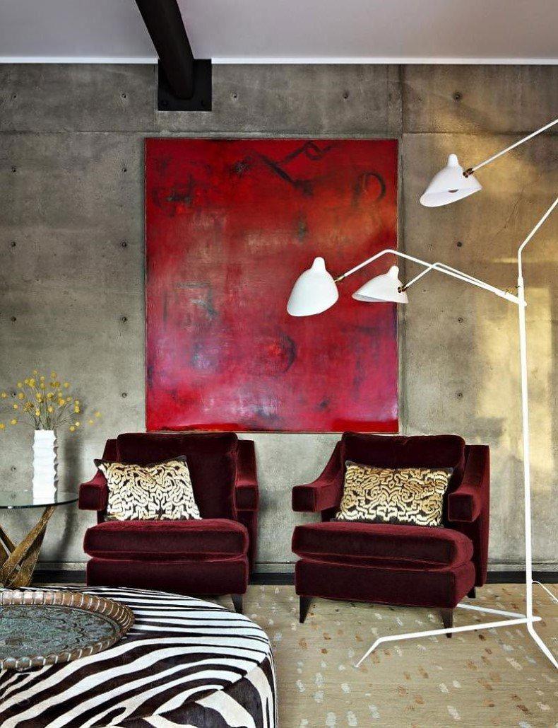 Red Artwork for Living Room