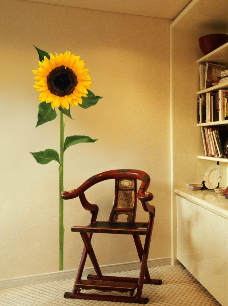 Sun Flower Living Room Wall Art
