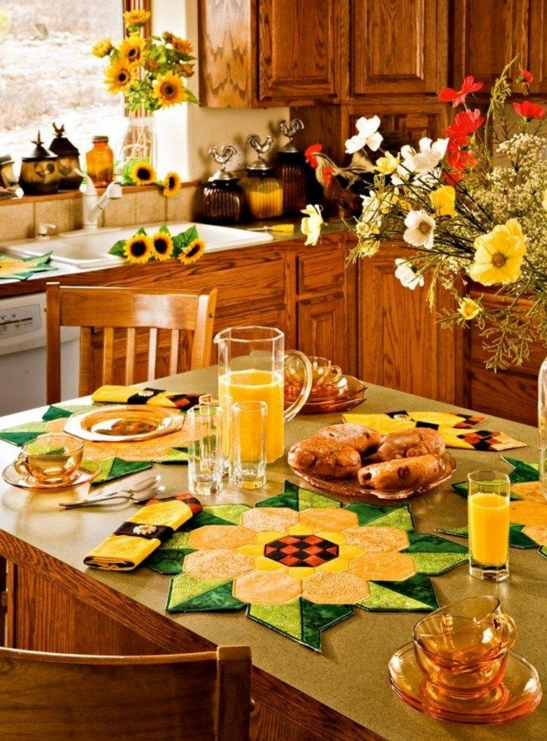 Sun Flowers Kitchen Decoration