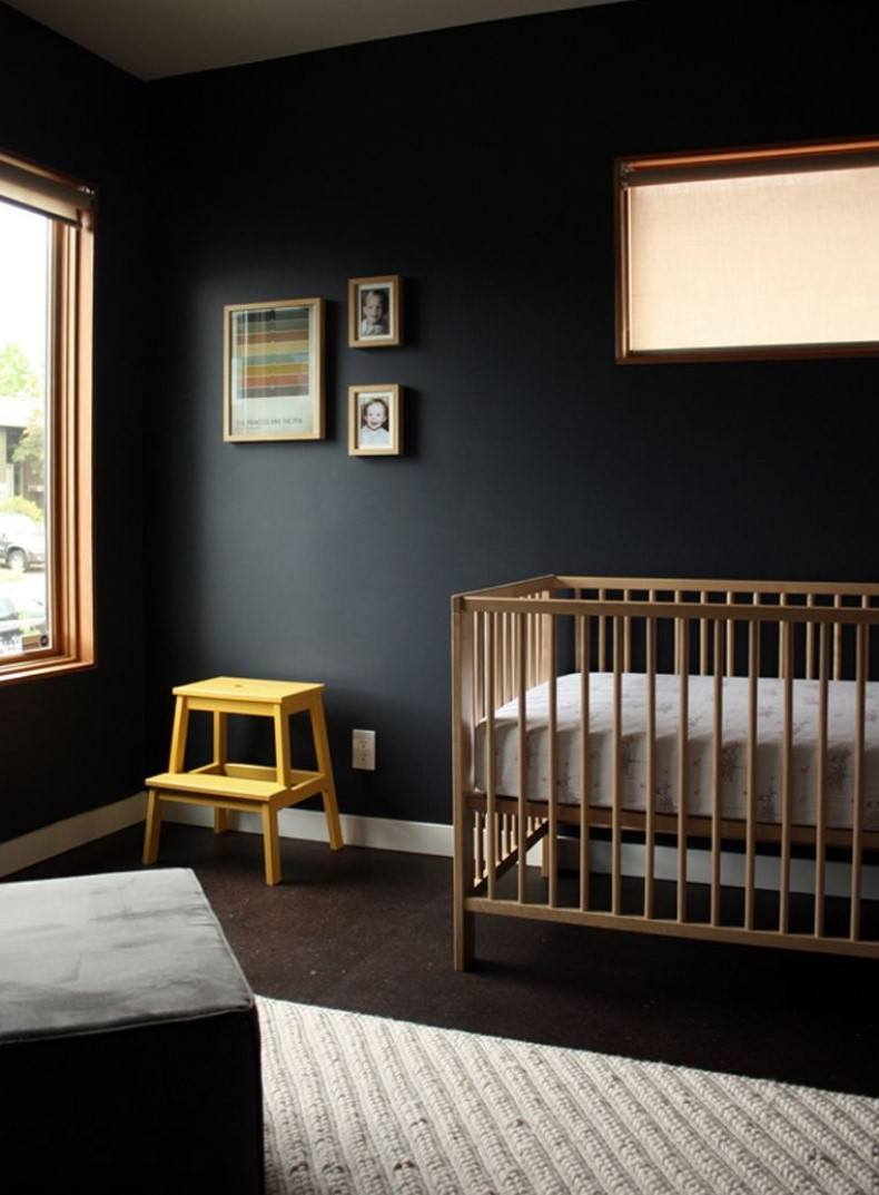 Black Nursery Interior Design