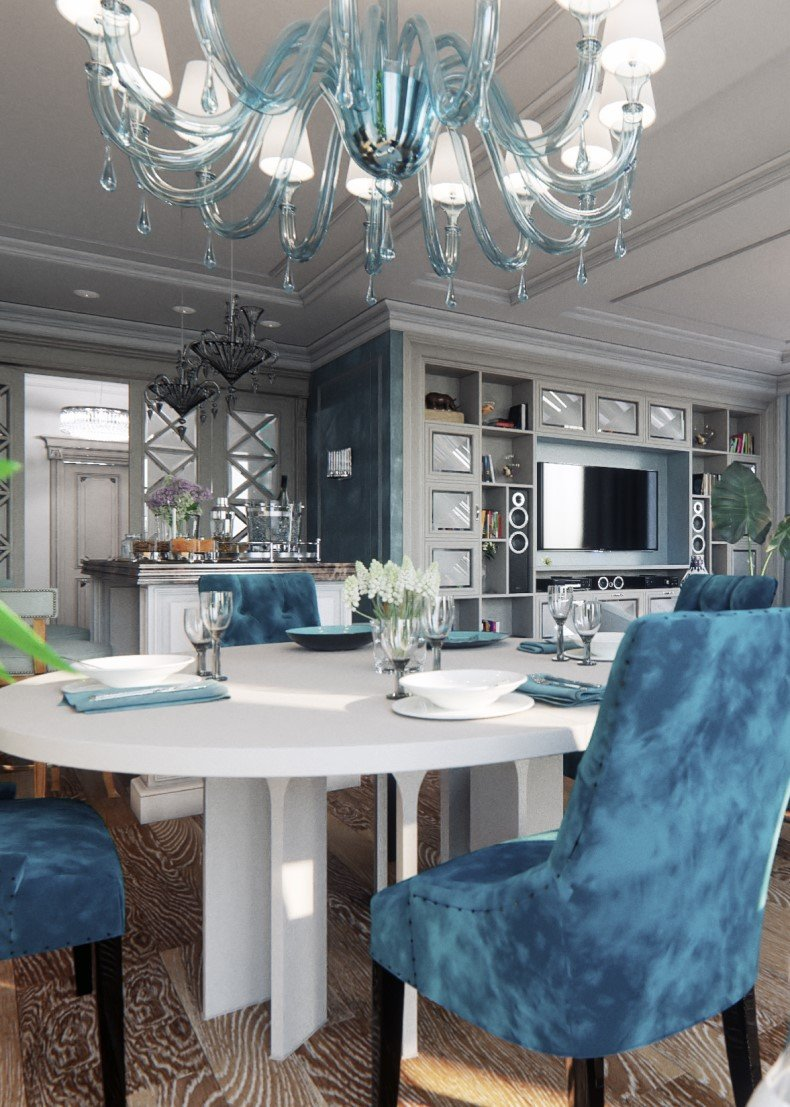 Blue Style Dining Room