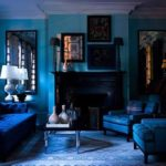 Monochromatic Rooms With Electric Blue Paint Color in Your House