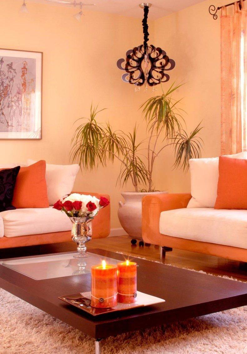 Contemporary Peachy Living Room