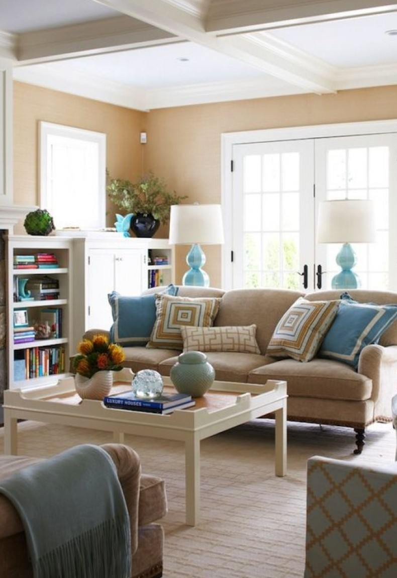 Cream Living Room Interior Ideas