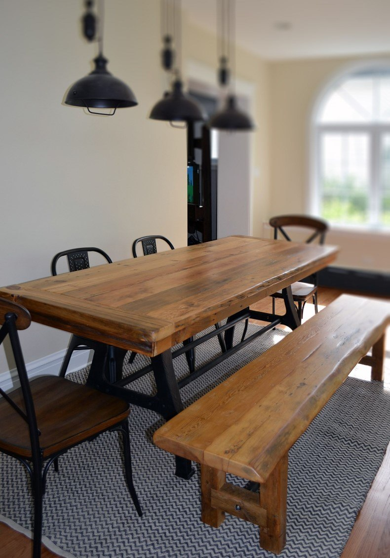 Hand Crafted Industrial Dining Room