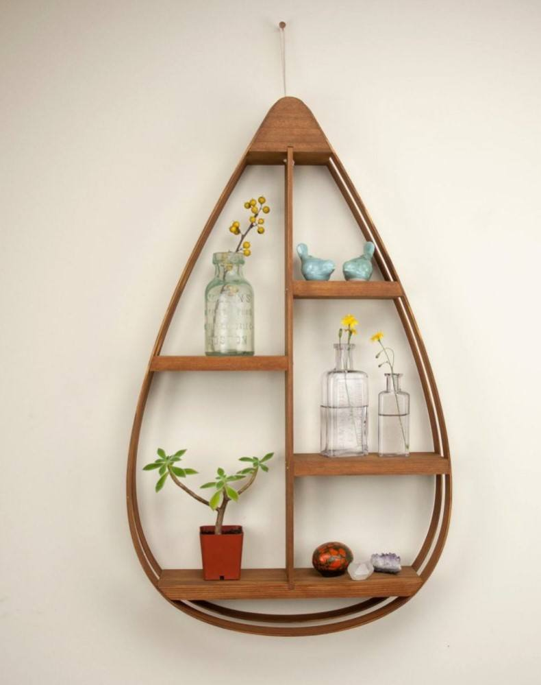 Mid-Century Teardrop Shelves