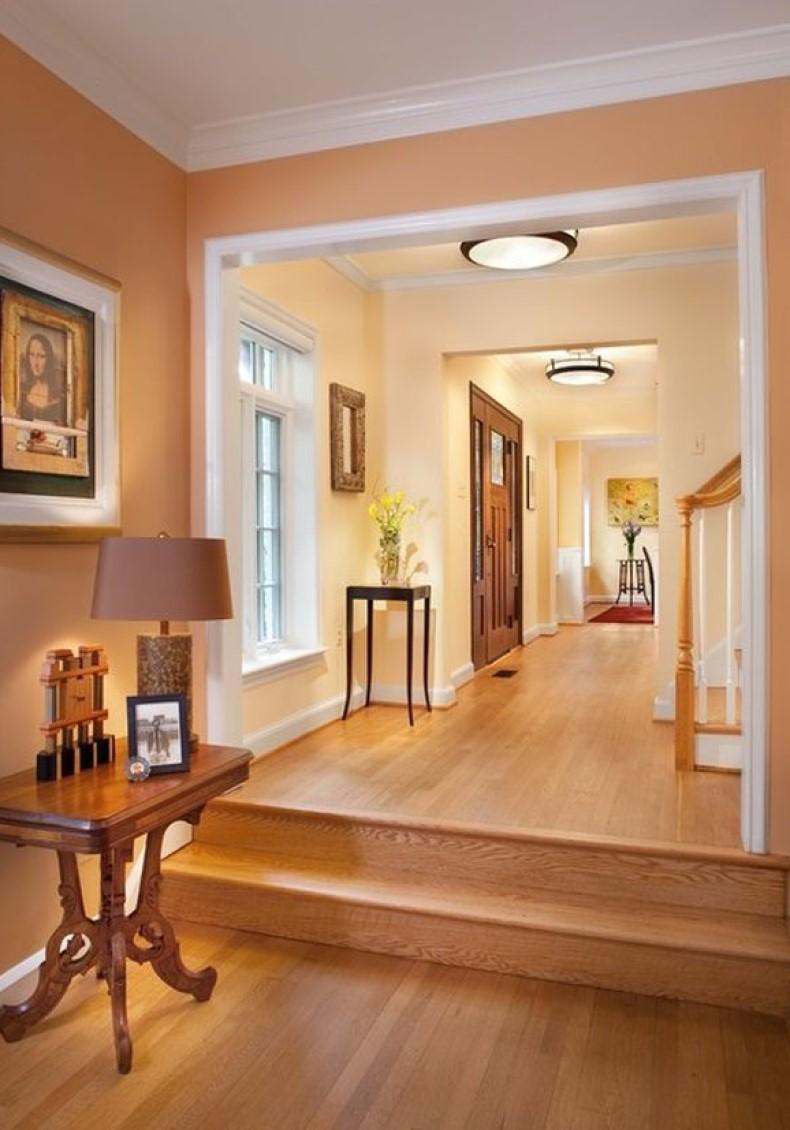Peach Hallway Design