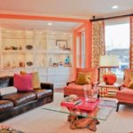 Monochromatic Rooms With Colorful Painting in Your House: Peach Themes