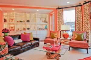 Peach Living Room Design