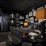 Monochromatic Rooms With Cool Paint Designs in Your House: Midnight Themes
