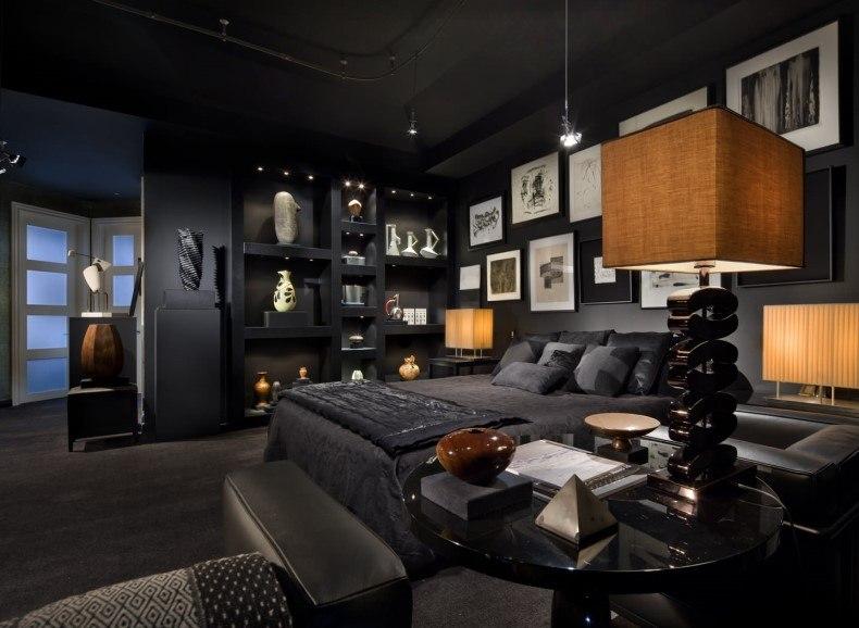 Black Bedroom Diff Framed Wall Art