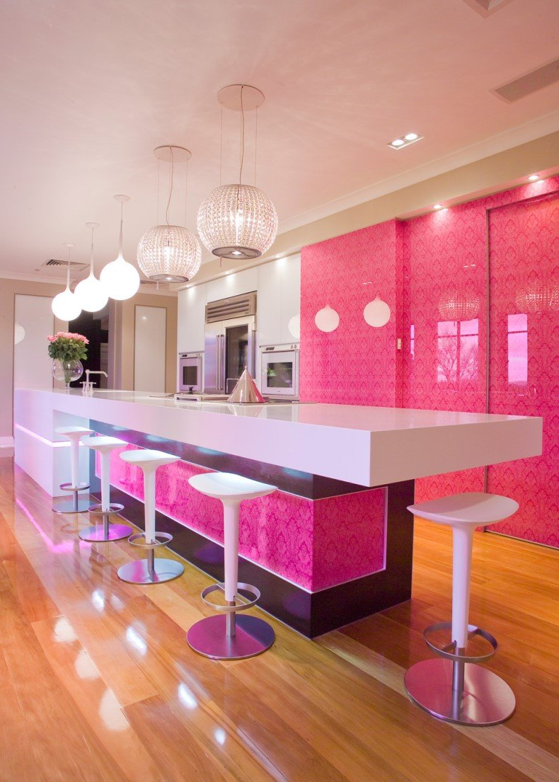 Contemporary Bubblegum Kitchen