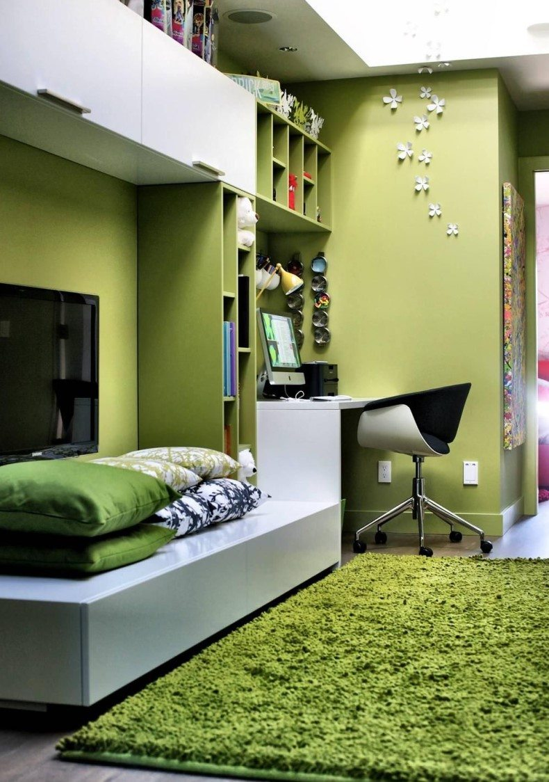 Light Green Kids Room
