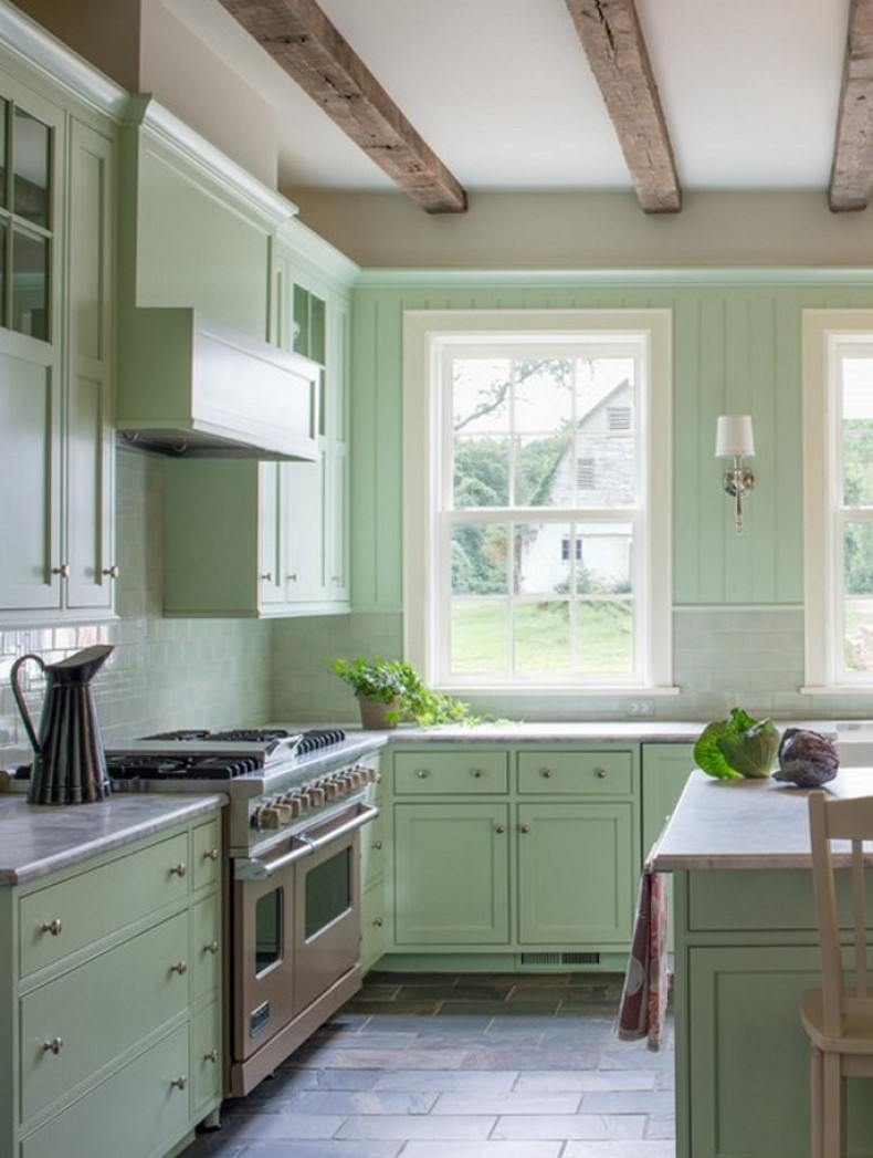 Sage Green Farmhouse Kitchen