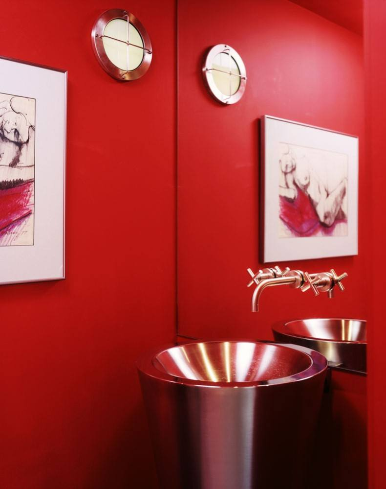 Modern Cherry Powder Room