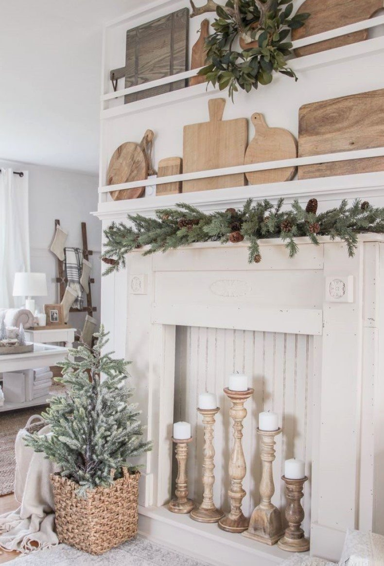 Oak Fireplace Mantel Makeover