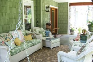 Porch Furniture Ideas Green