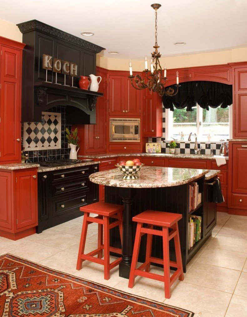 Black Cherry Wood Kitchen