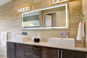 Wall Mounted Backlit Vanity