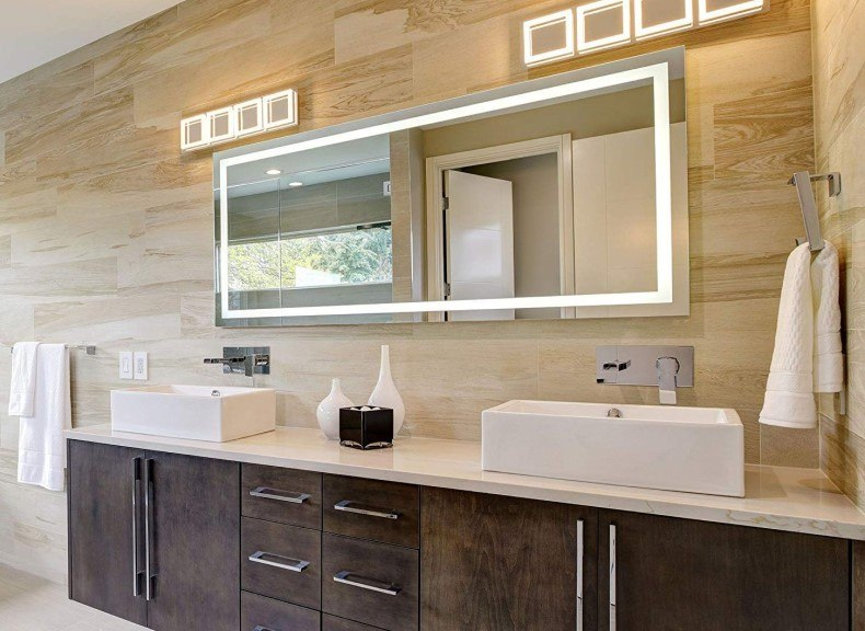 Horizontal LED Wall Mounted Backlit Vanity