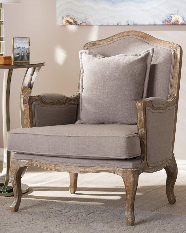 Classic Antiqued French Accent Chair